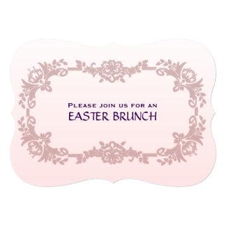 Sweet Pink and Lavender Easter Brunch Card