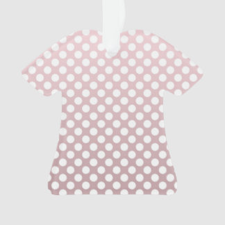 Sweet Pink and White Polka Dot pattern Ornament