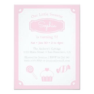 Sweet Pink Girls Birthday Party Invitations