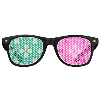 Sweet pink turquoise glam pattern