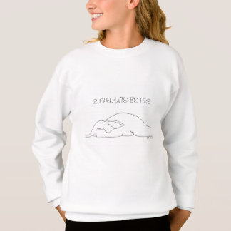 Sweet pullover/sweater for children with elephant sweatshirt