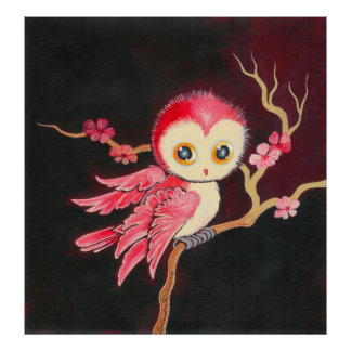 Sweet Red Owl Poster