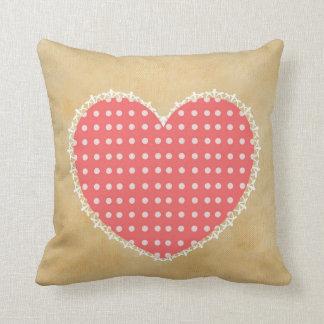 Sweet Romantic Heart Polka Dots Throw Cushions