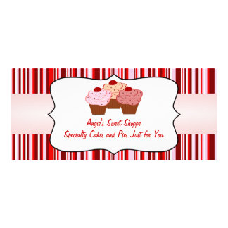 Sweet Shoppe Cupcake Business Gift Certificate Rack Card Template