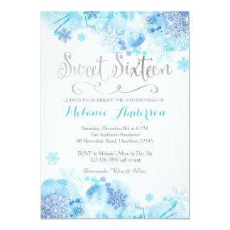 Sweet Sixteen invitation, Winter Wonderland Card