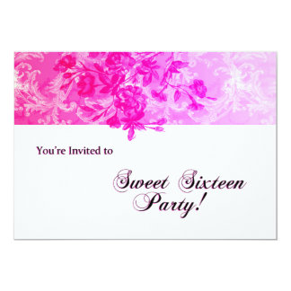 Sweet Sixteen Party (pink glow) Card