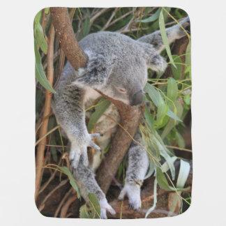 Sweet Sleeping Koala Bear Baby Blanket