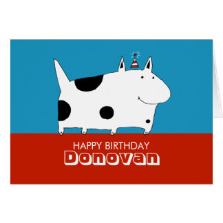 Sweet Spotted Dog Birthday Card