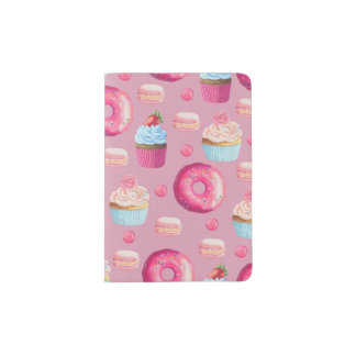 Sweet Strawberry Pink Treats Passport Holder