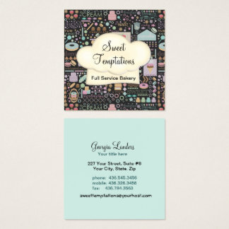 Sweet Temptations Bakery Boutique Square Square Business Card
