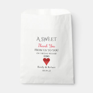 Sweet Thank You Wedding Favor Buffet Favour Bags