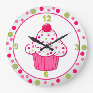 Sweet Treat Cupcake Wall Clock