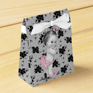 Sweet Vintage Baby Shower Favor Boxes Party Favour Box