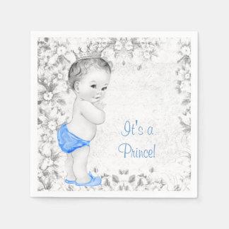 Sweet Vintage Prince Baby Shower Paper Napkins