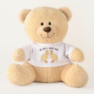 Sweet Yellow Duckling Profile Photographs Teddy Bear