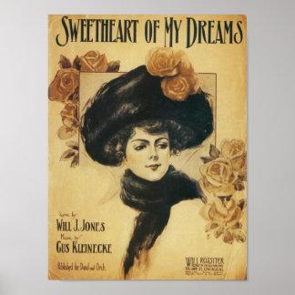 Sweetheart of My Dreams Vintage Songbook Cover Print