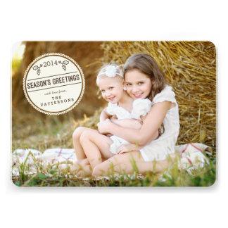 Sweetly Sealed Season s Greetings Photo Card Personalized Invitation