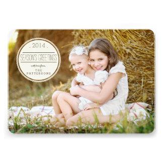 Sweetly Sealed Season s Greetings Photo Card Invites
