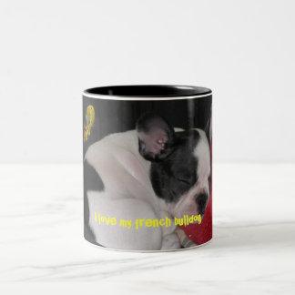 swell, I coils my french bulldog Two-Tone Coffee Mug