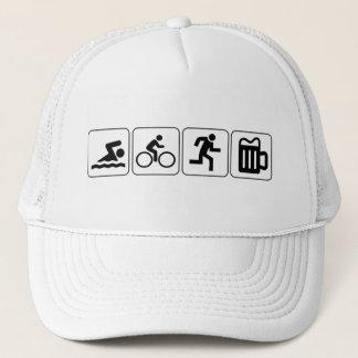 Swim Bike Run Drink Trucker Hat