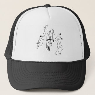 Swim Bike Run Triathlon Trucker Hat