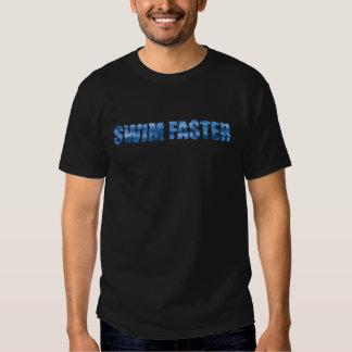 Swim Faster, I See Fins Black Tee