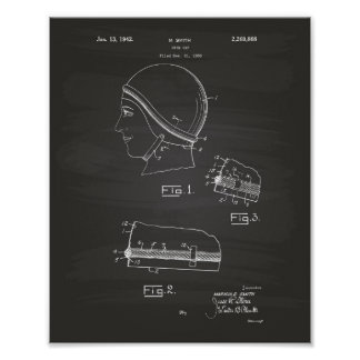 Swim Gap 1942 Patent Art Chalkboard Poster