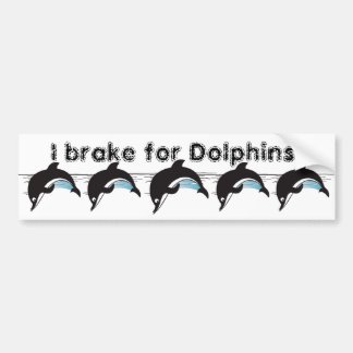 Swim With Dolphins Bumper Sticker