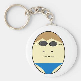 Swimmer Guy Egg Dude Key Ring