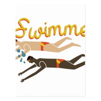 Swimmer Postcard