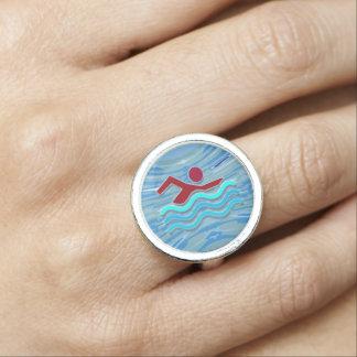 Swimming Champion Champ Swimmer Pool NVN623 Ring