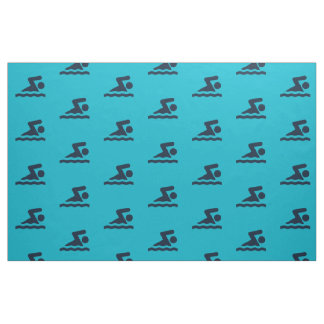 Swimming Design Fabric