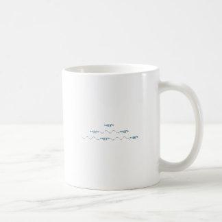 Swimming Fish Emoticons Logo Coffee Mug