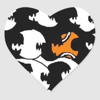 swimming in a sea of black heart sticker