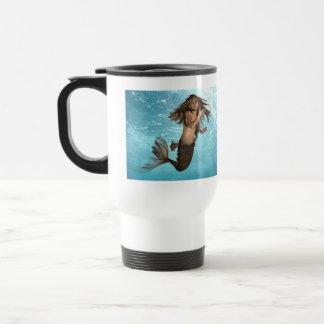 Swimming Mermaid Plastic Travel Mug