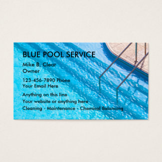 Pool service gifts t shirts art posters other gift for Pool business cards