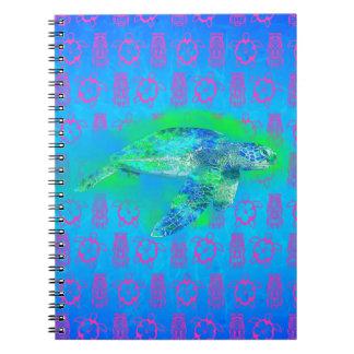 Swimming Sea Turtle Notebook