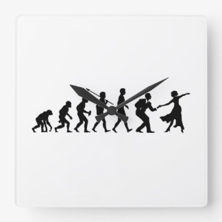Swing Dancing Square Wall Clock