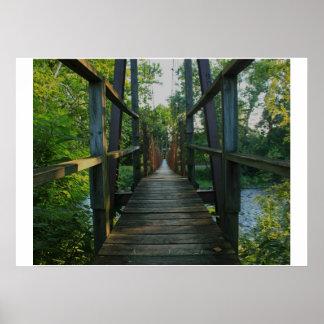 Swinging bridge poster