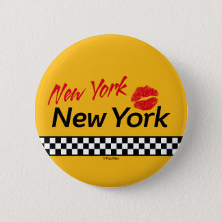 Swipes in Taxi NY & Red KIS 6 Cm Round Badge