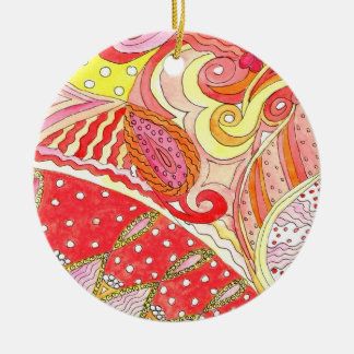 Swirl Circle Ornament