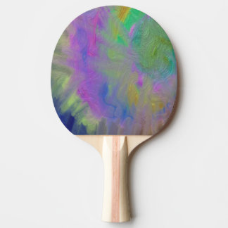 Swirl Colorful Metallic Ping Pong Paddle