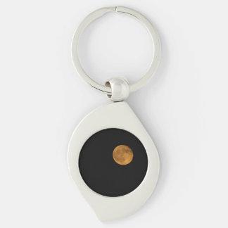 Swirl Metal Keychain PHOTOGRAPH OF HARVEST MOON