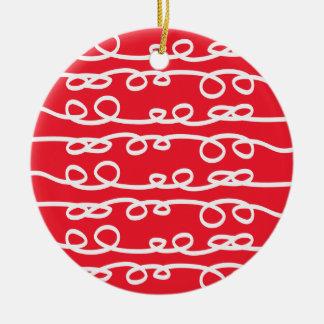 swirl patterned christmas ornament
