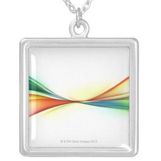 Swirl Silver Plated Necklace