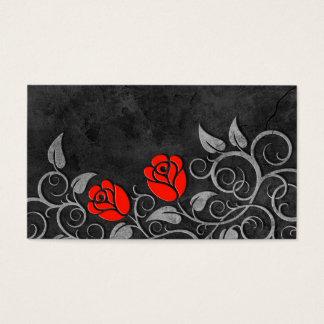 Swirling Dark Stone Red Roses