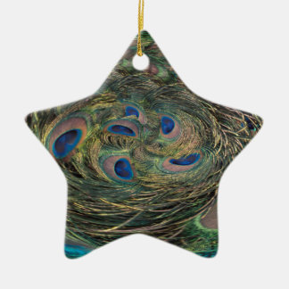 Swirling Feathers Christmas Ornament