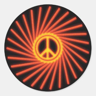 SWIRLING PEACE SIGN STICKER
