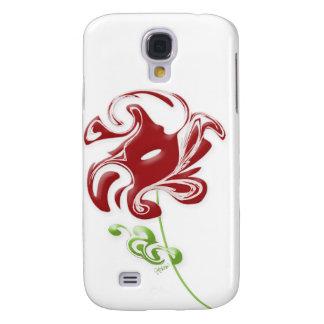 Swirling Red Flower Galaxy S4 Case