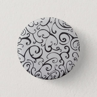 Swirls 3 Cm Round Badge